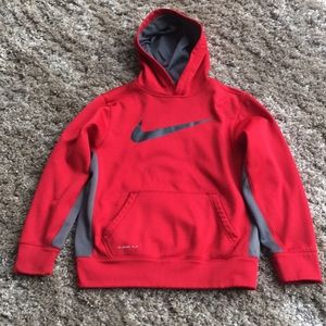 Nike Thermafit Hoodie Sweatshirt Sz Med In Red